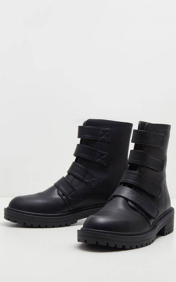 Velcro Boot Boots with Straps