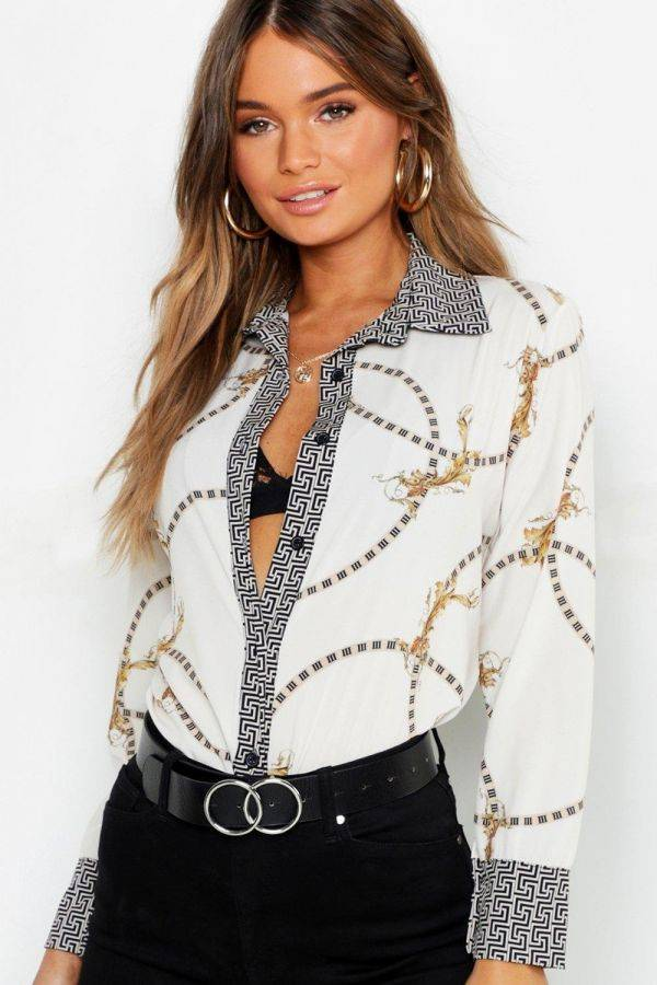Shirt with Geo Prints