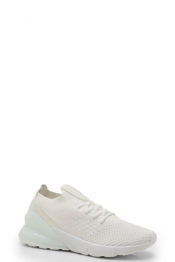 حذاء رياضي ابيض نسائي محبوك