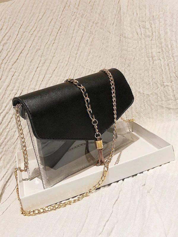 Clear Clear Black Bag