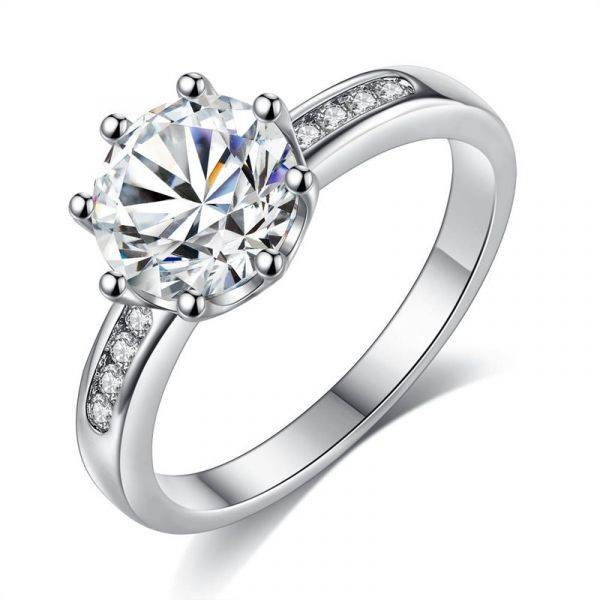 Solitaire Cubic Zirconia Ring