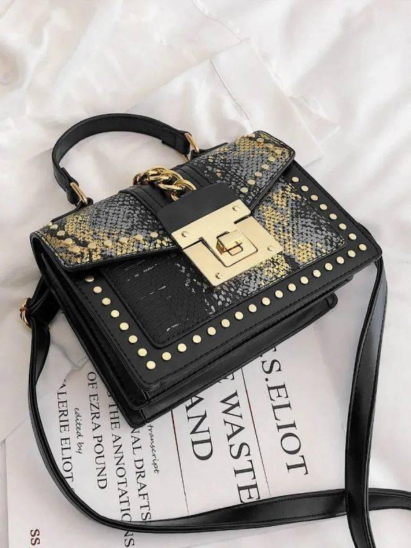 Gulden snake skin bag