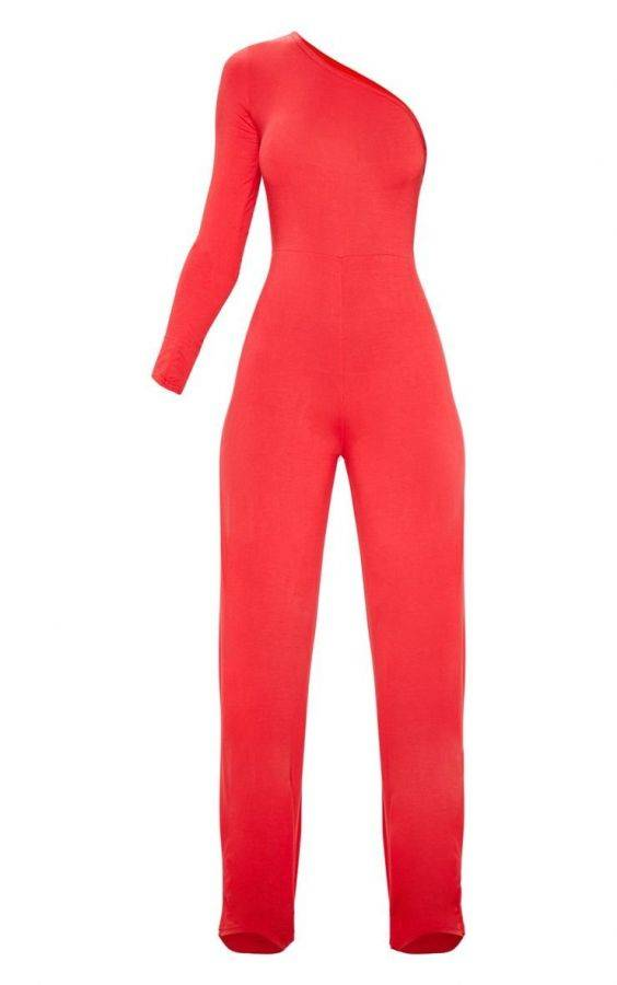 One-shoulder jumpsuit