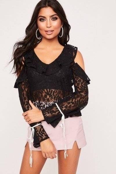 Lucia Blouse black lace