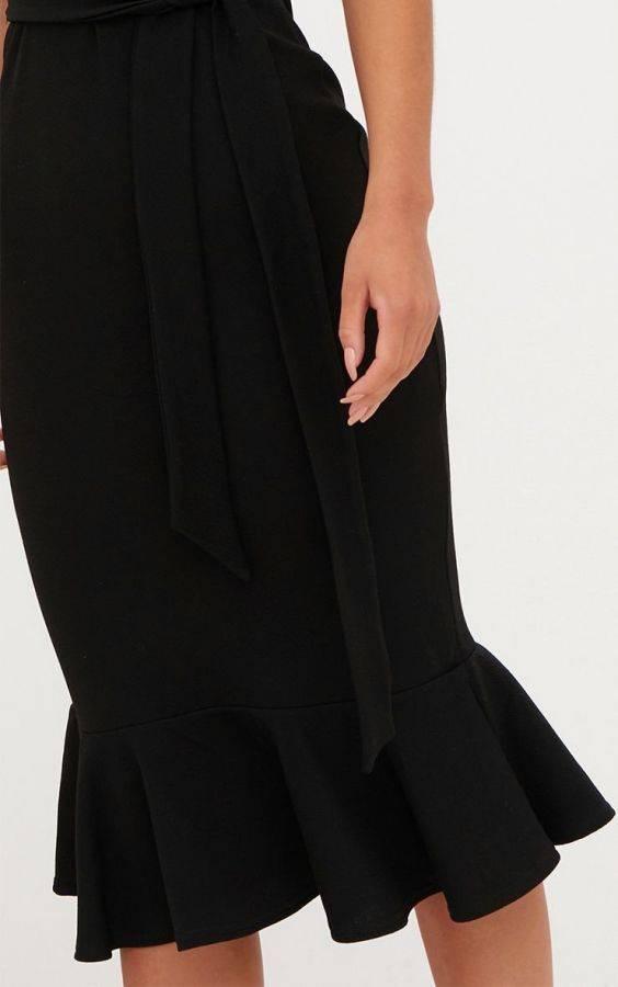 فستان بحزام ميدي-7