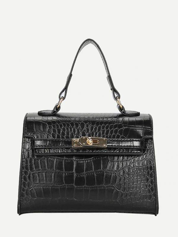 Elegant bag with snake skin