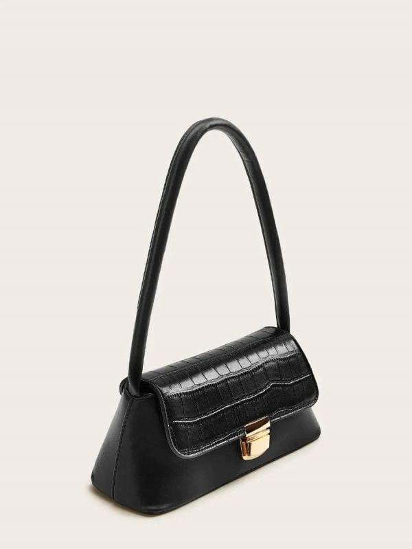 Boho handbag elegant black