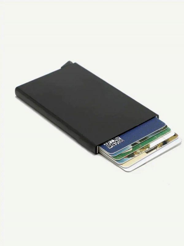 حافظة بطاقات معدنيه بزر هيدروليكي-3
