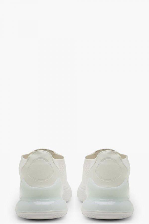 حذاء رياضي ابيض نسائي محبوك-3