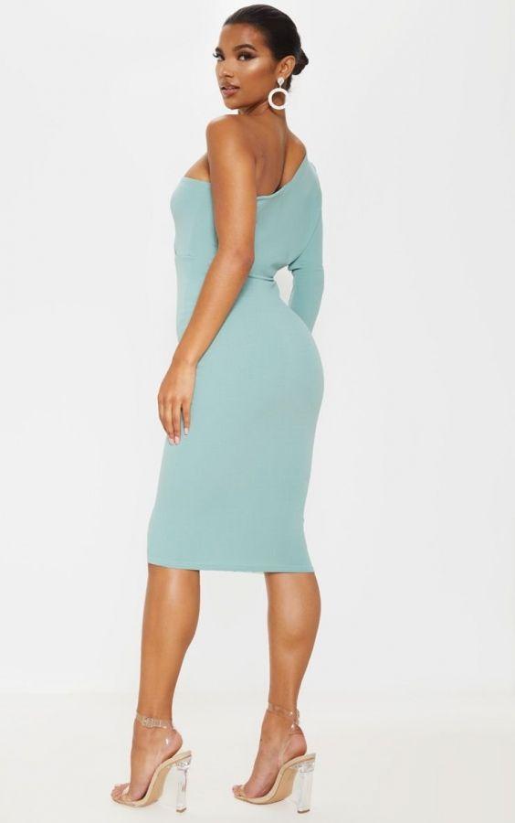 فستان ميدي بكم واحد بريتي-3
