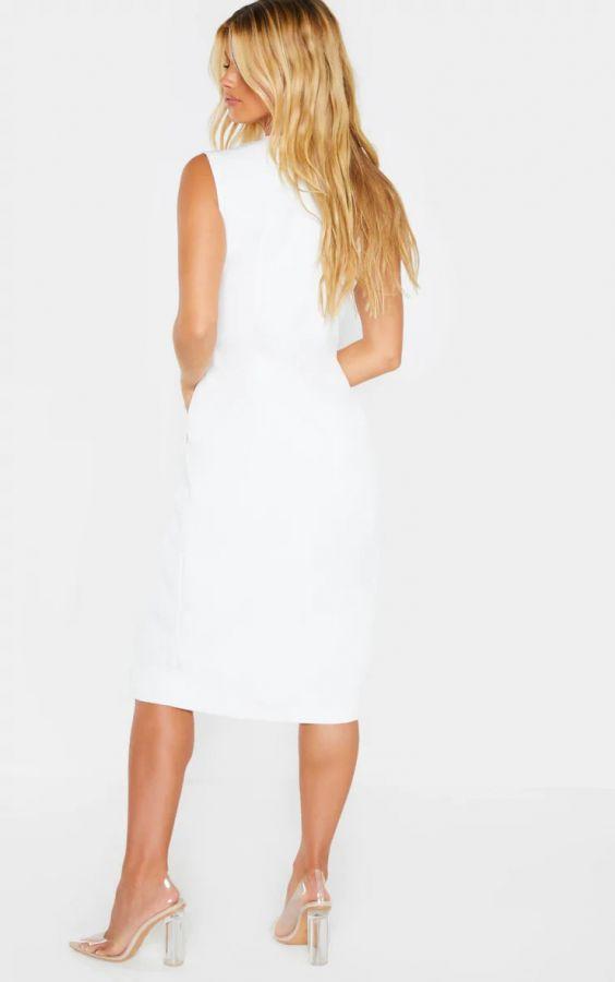 فستان بليزر أبيض-4