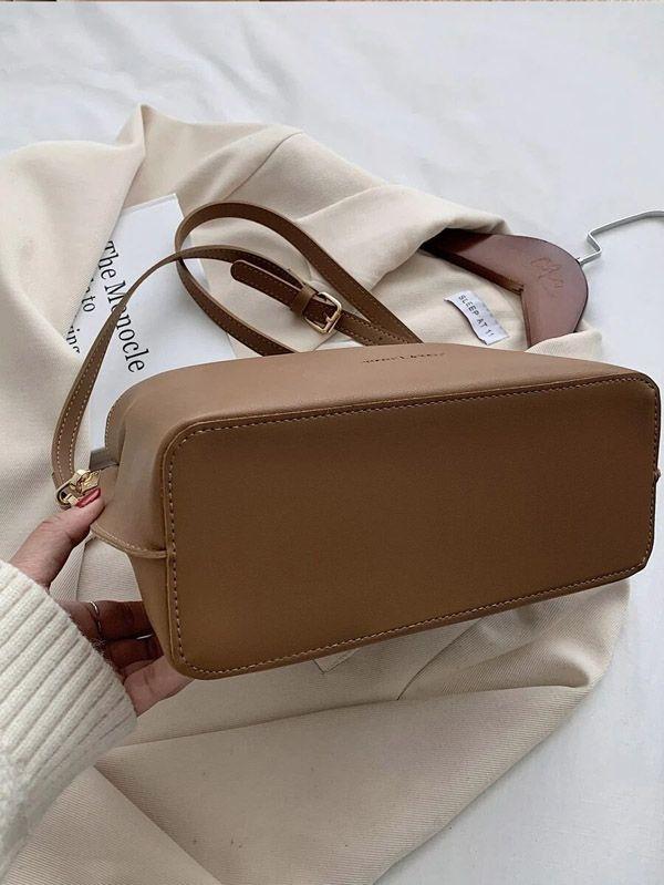 حقيبة كتف كاكي بسلسلة-3