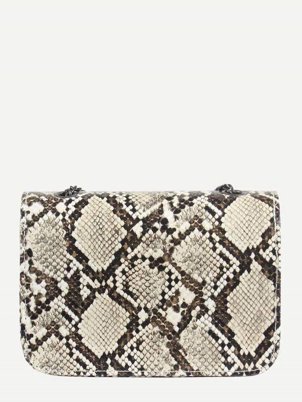 Small snake skin bag