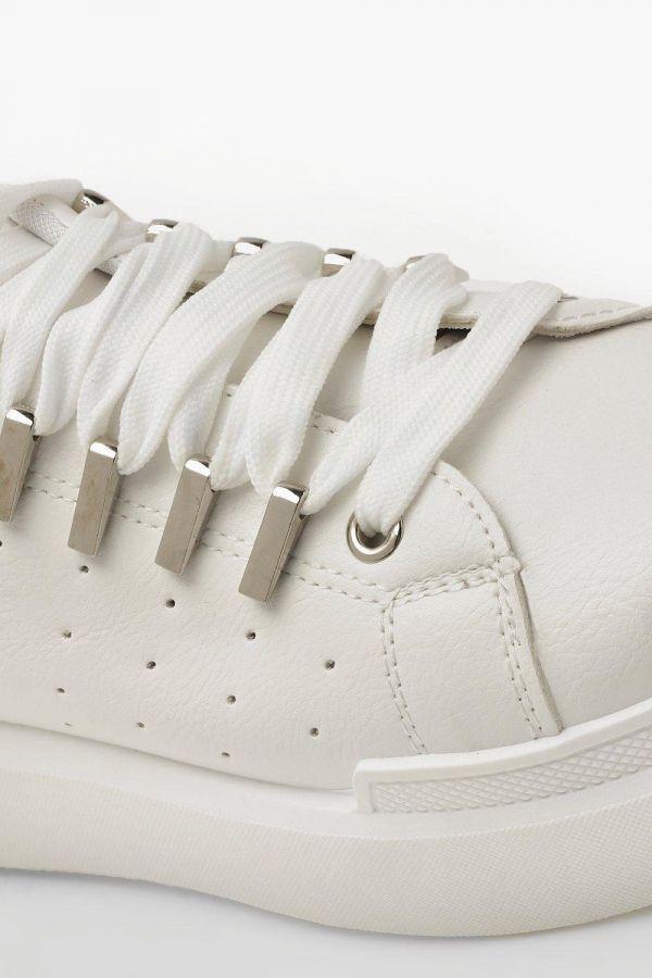 حذاء فلات ايفريداي ابيض-4