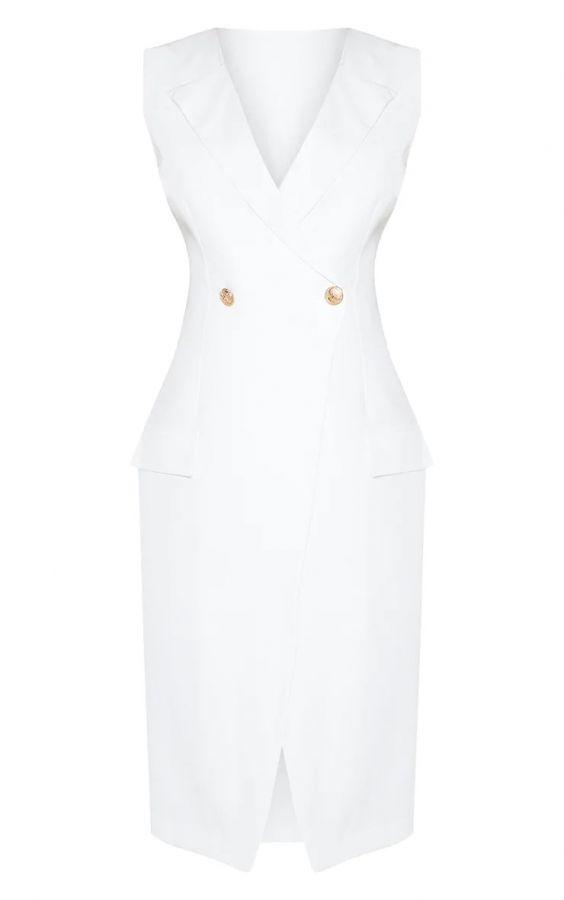 فستان بليزر أبيض-5