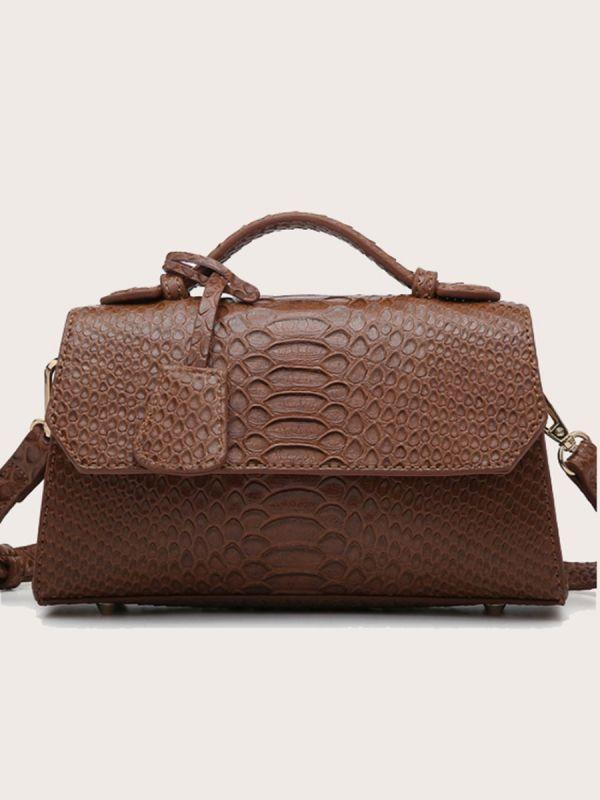 حقيبة كلاتش جلد ثعبان انيقة-5