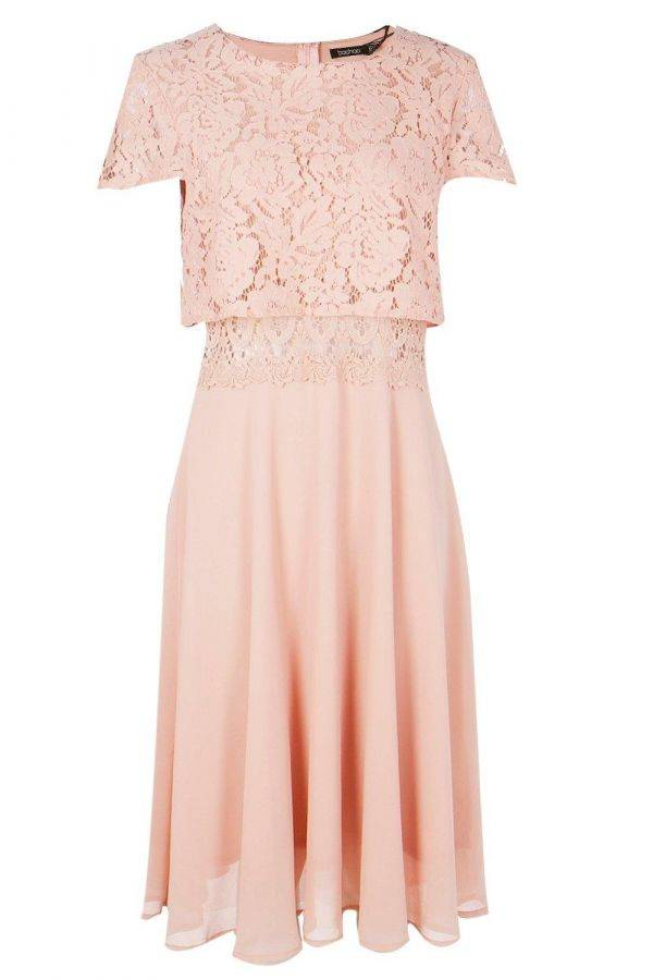 Chiffon chiffon dress