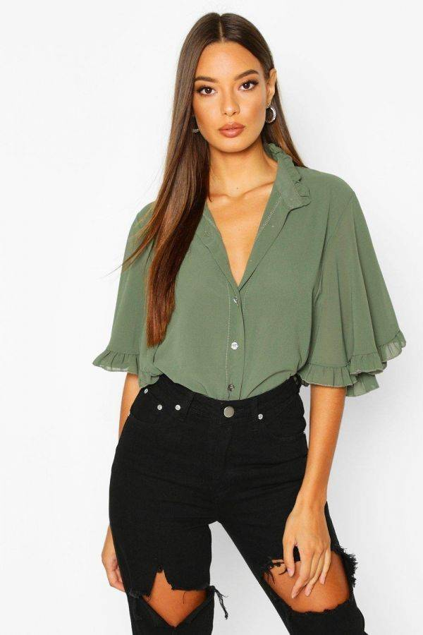 Boho ruffle and ruffle blouse from Boho