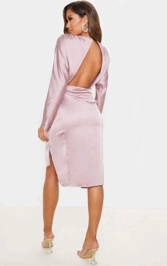 فستان ساتان ميدي-7
