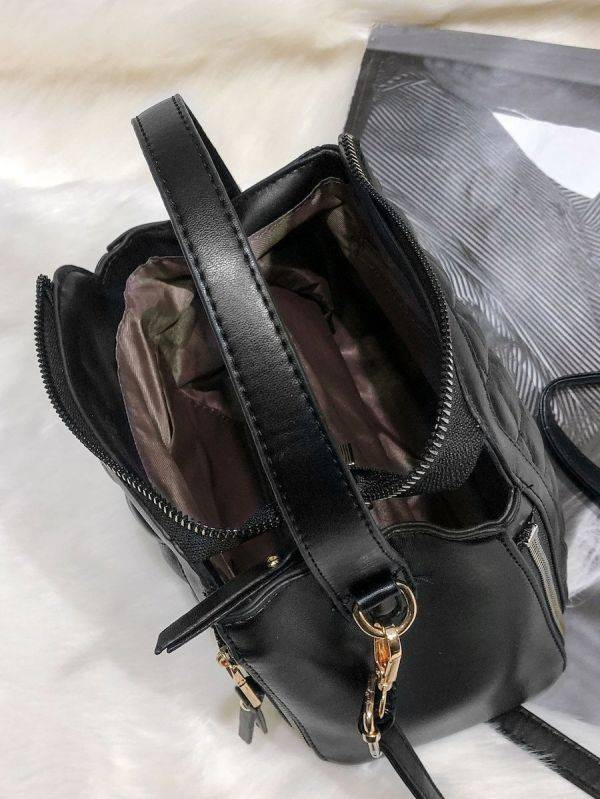 The Squires bag is black