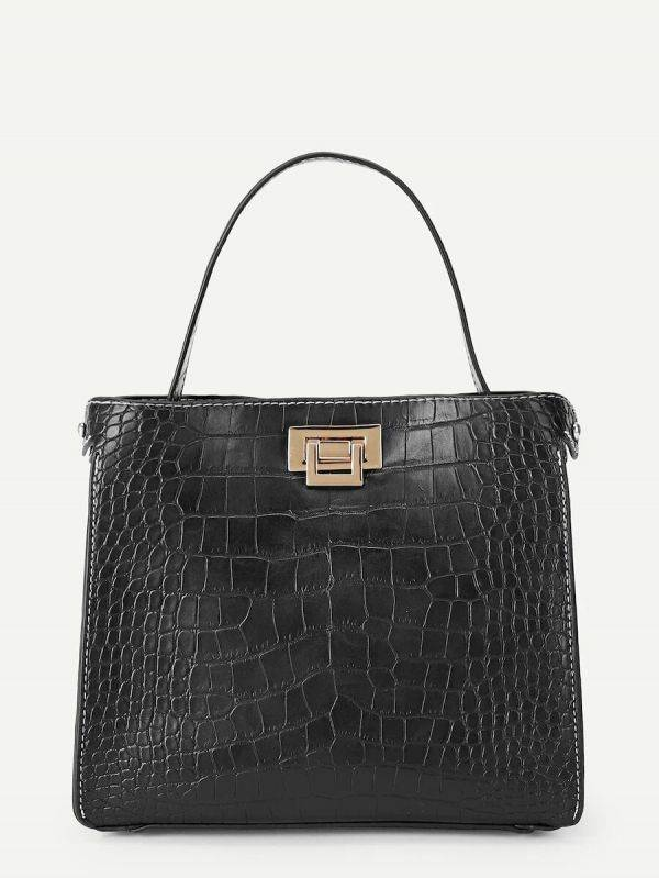 Snake leather bag