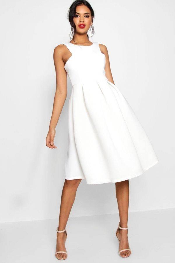 Dress May Scuba Black Medium length