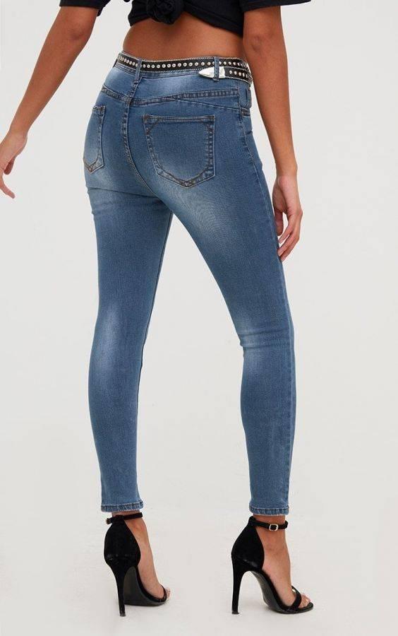 بنطلون جينز بخصر مرتفع-4