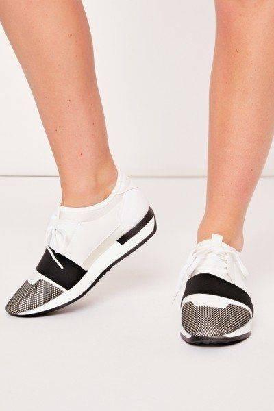 حذاء رياضي بيلا شبكة ابيض