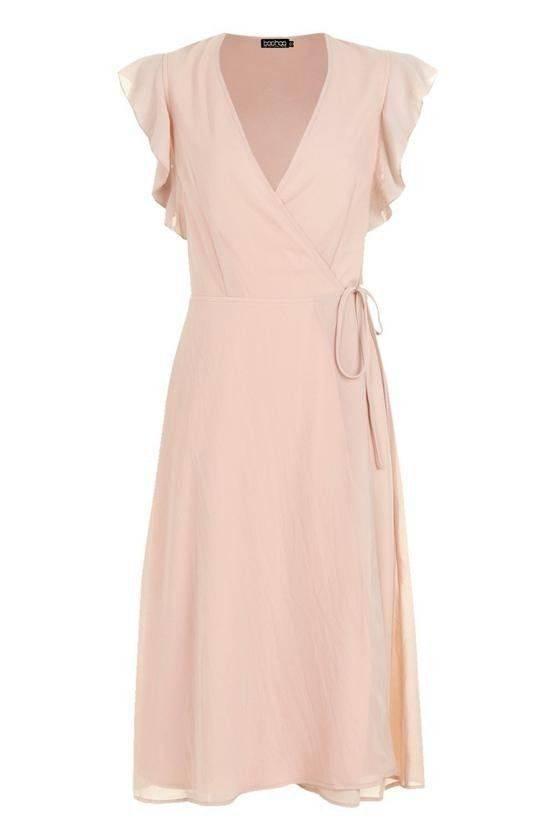 فستان بكم كشكش والتفاف على الخصر-3
