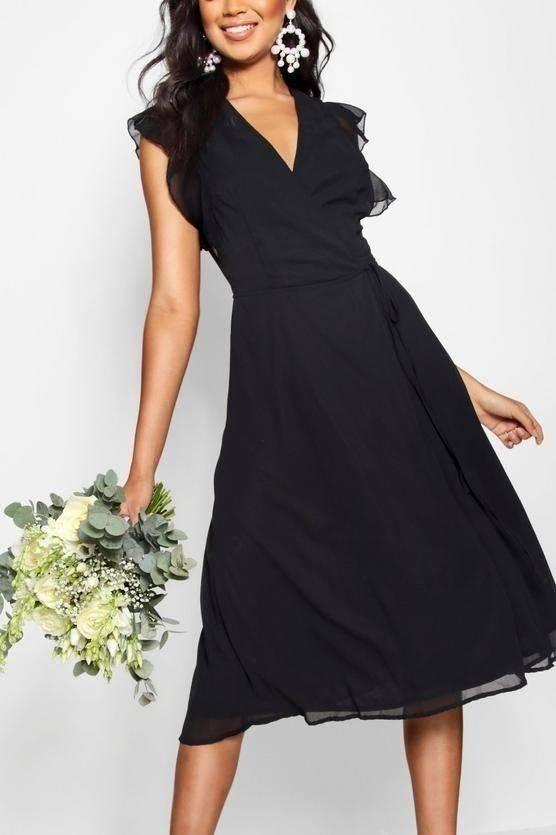 فستان بكم كشكش والتفاف على الخصر-4