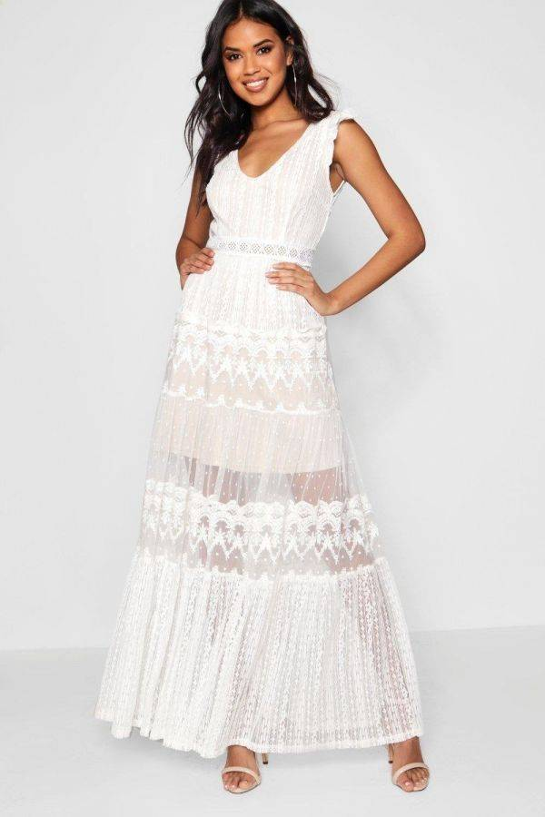 Maxi Boutique Gian Lace Platt Dress from Boho