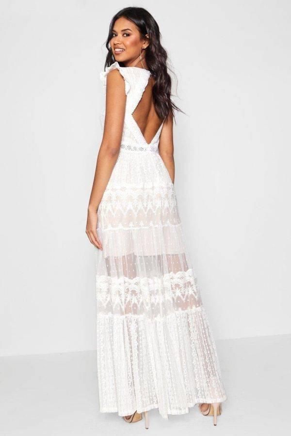 Maxi Boutique Gian Lace Platt Dress from Boho