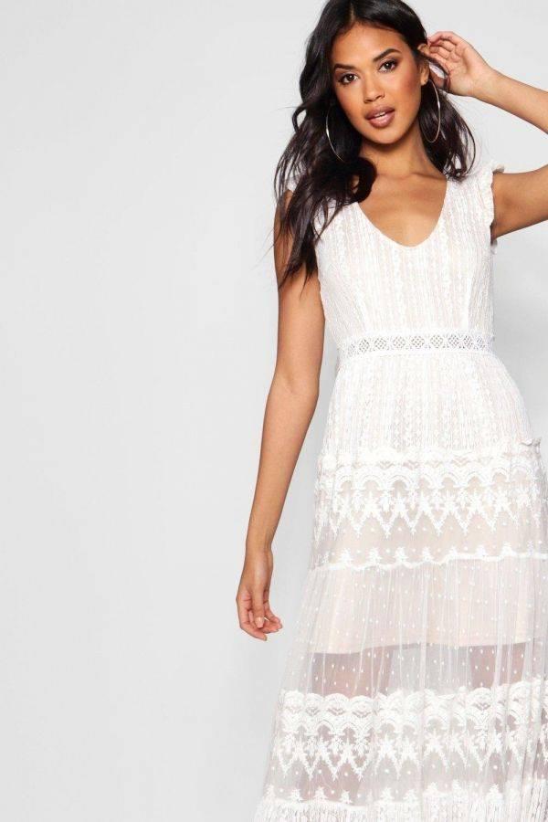 فستان ماكسي بوتيك جيان الرباط بلات من بوهو