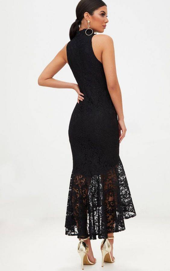 Black High Nick Dress from Pretty Little Thing