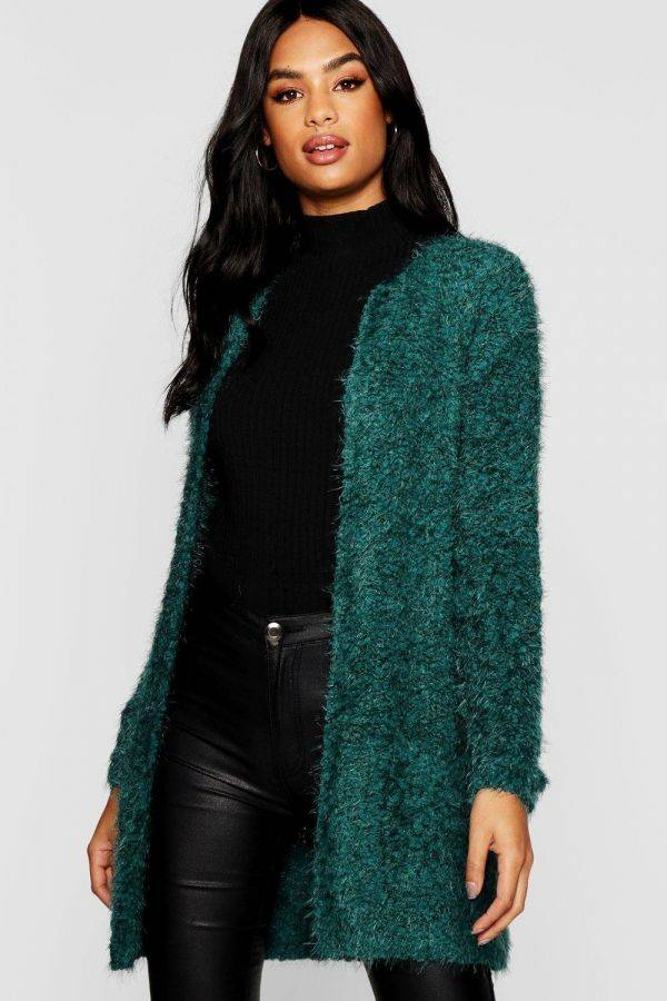 Long cardigan soft knitted