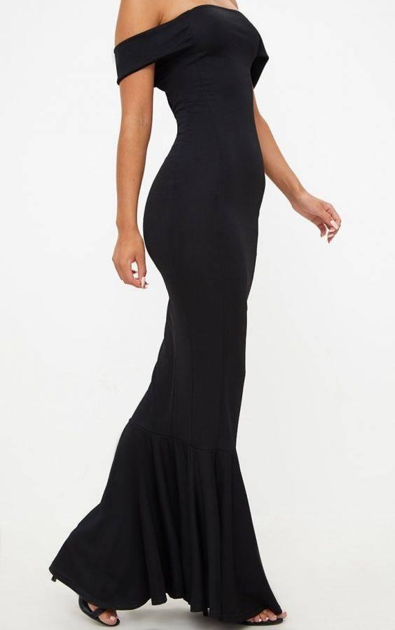 فستان اسود ماكسي ماركة بريتي-7