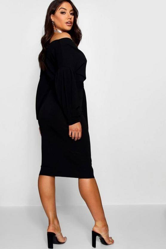 Dress Bodhi Kun Midi shoulder wrap
