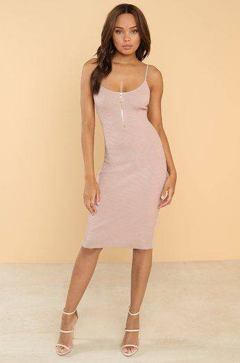 Short pink silk dress