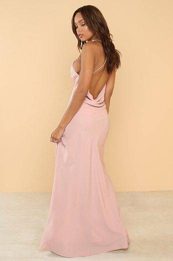 The One Moment Long Pink Dress