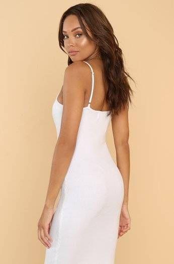 فستان حرير قصير ابيض