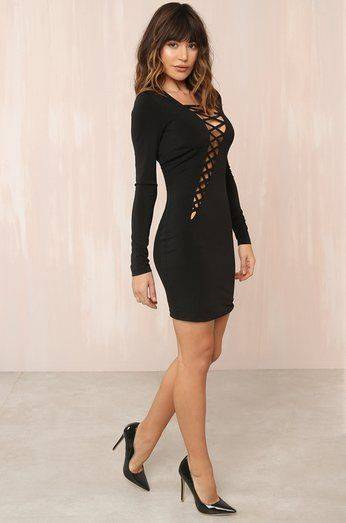 On-You-Corvees Black Dress
