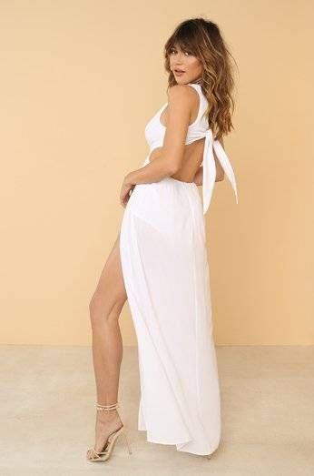 Dream Cam Tru White Silk Dress
