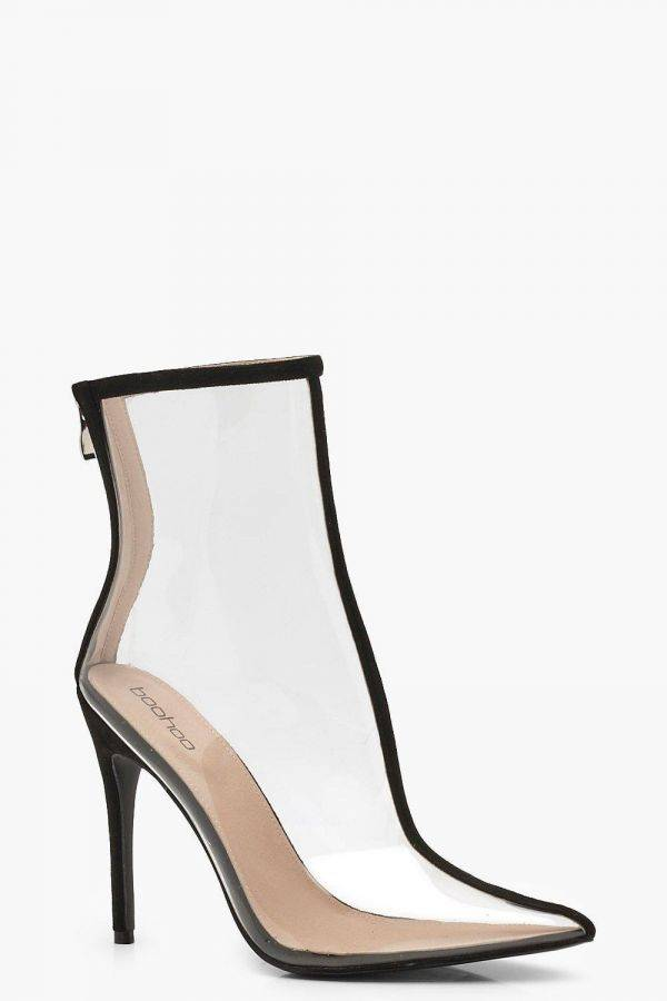 Transparent heel boho