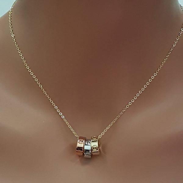 سلسال كارتير حلقات معدنيه ملونه-1