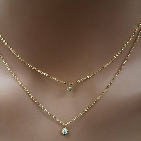 Catenary of small round cubic zirconia