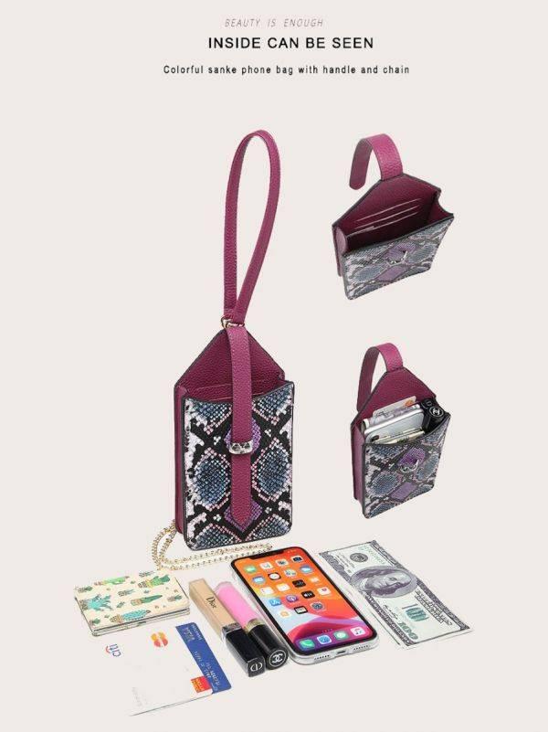 حقيبة جوال جلد ثعبان-15