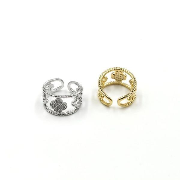 خاتم وردة الفان كليف زركون-4