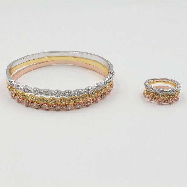 A series of fences and rings colored cubic zirconia-5