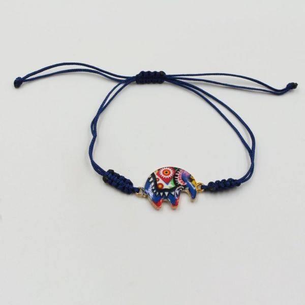 Bracelet zipper shape elephant