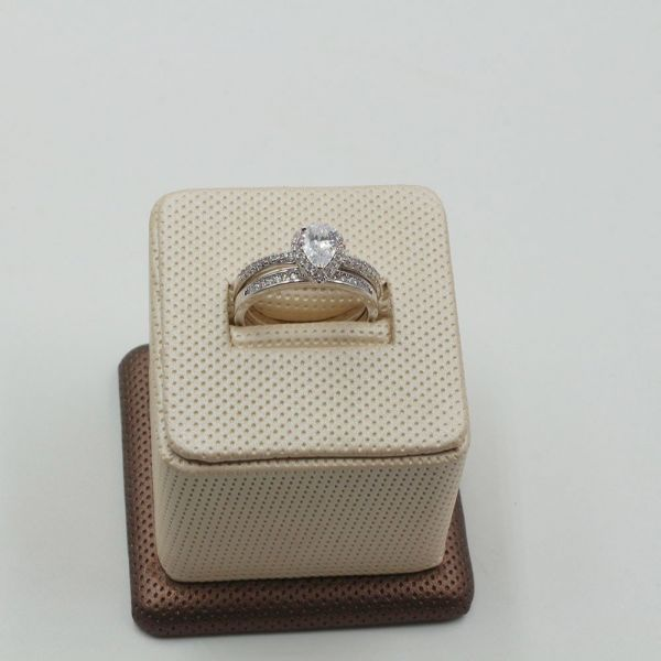 Twins Solitaire Ring